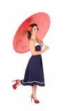 Pinup con el paraguas Imagen de archivo