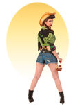Pinup Cowgirl Package Stock Images