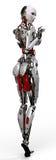 Pinup 3 da mulher do robô Fotos de Stock Royalty Free