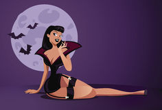 Pinup do vampiro Foto de Stock Royalty Free