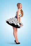 Pinup in dots. Royalty Free Stock Image