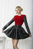 Pinup fashion woman smiling in dress Royalty Free Stock Photography