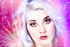 Pinup girl with dream make-up and hair style Royalty Free Stock Photo