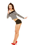 Pinup girl with lollipop Stock Photography