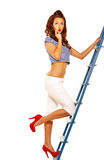 Pinup girl Stock Photo