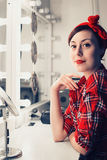 Pinup girl. stock images