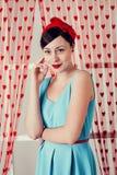 Pinup girl. stock photos