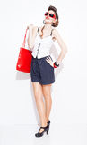 Pinup handbag Stock Photography