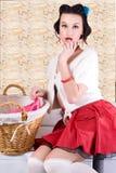 Pinup Hausfrau Lizenzfreies Stockfoto