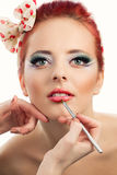 Pinup Makeup Royalty Free Stock Image