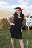 PinUp model with Danger Sign Stock Images