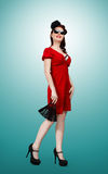 Pinup. A model posing in a pinup outfit Royalty Free Stock Images