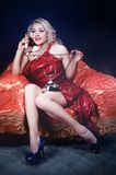 Pinup phone Stock Images