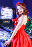 Pinup Play pinball royalty free stock image