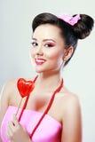 Pinup-Pop-Arten-Süßigkeits-Mädchen Stockbild