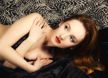 Pinup  portrait of the young foxy girl Royalty Free Stock Images
