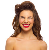 Pinup portrait of young woman Stock Images