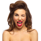 Pinup portrait of young woman Stock Photos