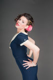 Pinup sailor girl Stock Photo