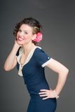 Pinup sailor girl Royalty Free Stock Photos
