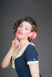 Pinup sailor girl Stock Photography