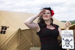 PinUp Saluting Royalty Free Stock Photography