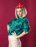 Pinup style photo Stock Images