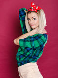 Pinup style photo Royalty Free Stock Images