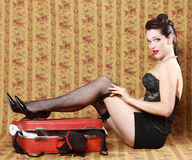 Pinup Style Vintage Sexy Image Royalty Free Stock Photos