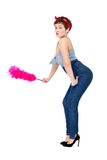 Pinup style woman Stock Image
