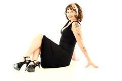 Pinup Style Woman Royalty Free Stock Photo