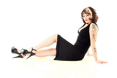 Pinup Style Woman Royalty Free Stock Image