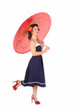 Pinup with umbrella Stock Image
