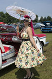 Pinup with umbrella stock photos