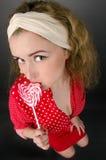 Pinup woman stock image