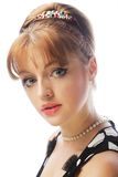 Pinup woman, style retro haircut Royalty Free Stock Images