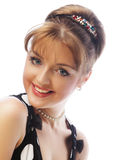 Pinup woman, style retro haircut Stock Images