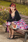 Pinup young woman in vintage style clothing Royalty Free Stock Photography