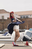 Pinup young woman in vintage style clothing Stock Image