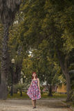 Pinup young woman in vintage style clothing Stock Photos