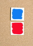 Pinwall with color papers Stock Photography