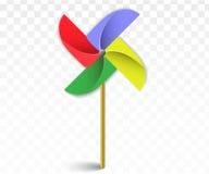 Pinwheel με τη σκιά Στοκ Εικόνες
