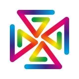 Pinwheel радуги Стоковые Изображения RF