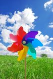 Pinwheel. On the meadow at sunny day Stock Photo