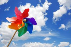 Pinwheel. Against sky at sunny day Royalty Free Stock Images
