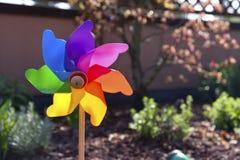 Pinwheel. Colored pinwheel in the garden Stock Image
