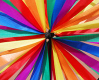 Pinwheel. Detail of a colourful pinwheel in rainbow colours Royalty Free Stock Images