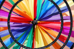 Pinwheel. Detail of a colourful pinwheel in rainbow colours Royalty Free Stock Photos