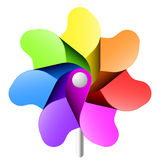 Pinwheel. Vector illustration of a colorful pinwheel on white. Detailed portrayal Royalty Free Stock Photography