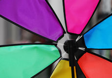 Pinwheel. Detail of a colourful pinwheel Royalty Free Stock Photos
